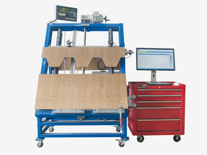 Metal sheet inspection gauge table