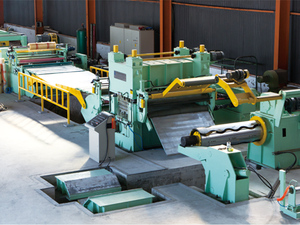 Metal coil cutting line